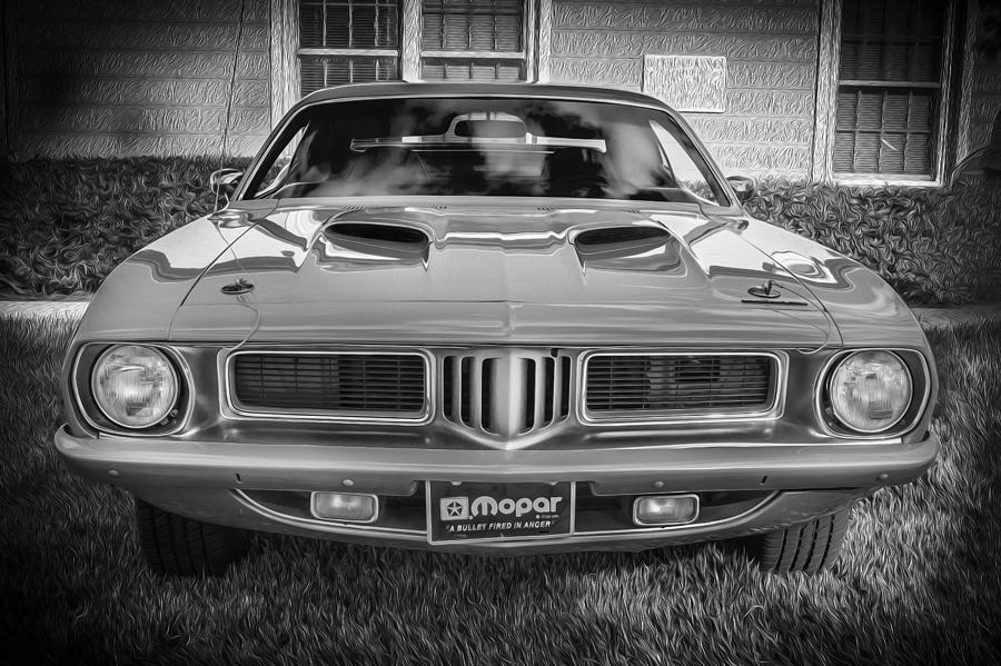 1973 Plymouth Hemi Barracuda Bw by Rich Franco