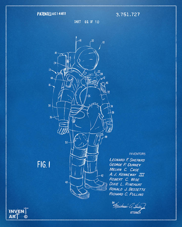 1973 space suit patent inventors artwork blueprint digital art space suit digital art 1973 space suit patent inventors artwork blueprint by nikki marie malvernweather