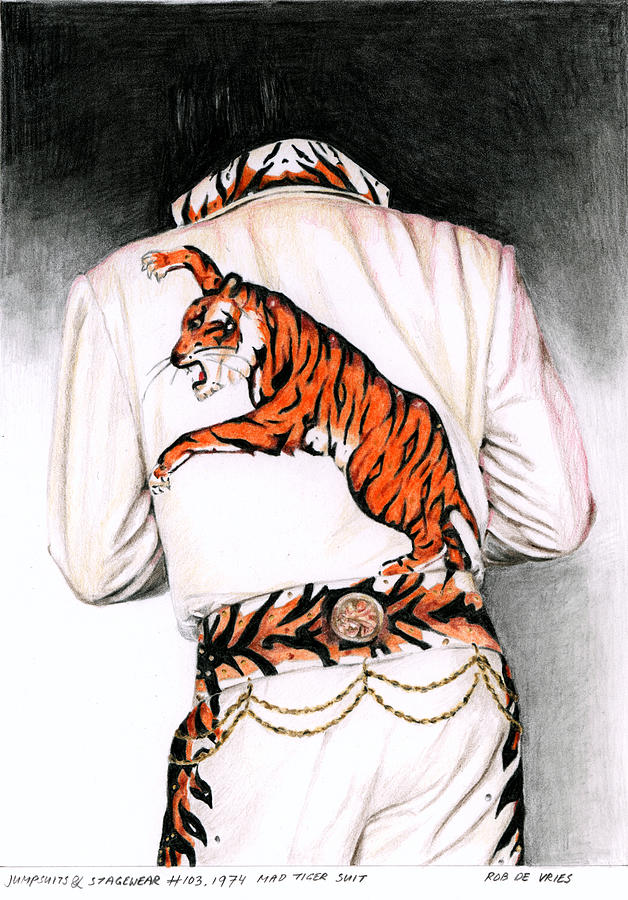 Elvis Painting - 1974 Mad Tiger Suit by Rob De Vries