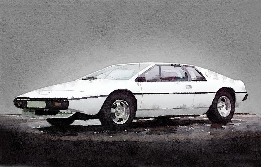 Lotus Esprit Painting - 1976 Lotus Esprit Coupe by Naxart Studio