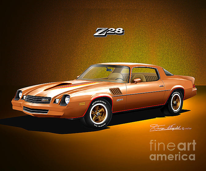 1978 Camaro Z28 Camel Tan Drawing by Danny Whitfield