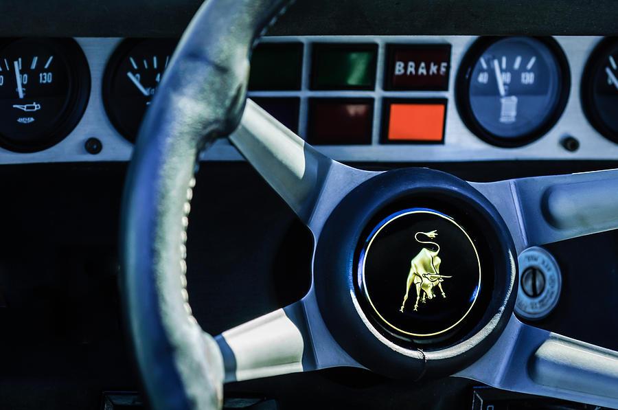 1982 Lamborghini Countach 5000s Steering Wheel Emblem 1549c