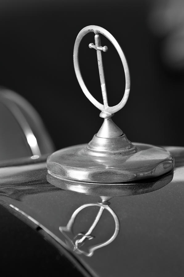 Roadster Photograph - 1984 Excalibur Roadster Hood Ornament 2 by Jill Reger