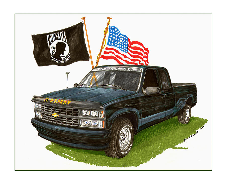 Nm Painting - 1988 Chevrolet M I A Tribute by Jack Pumphrey
