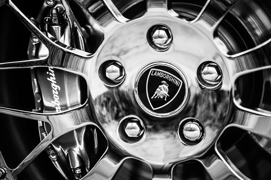 1997 Lamborghini Diablo Roadster  Wheel Emblem -1303bw by Jill Reger