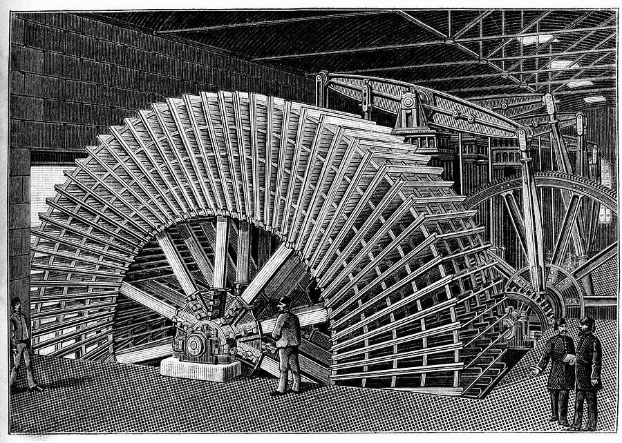 1887 Photograph - 19th C Egyptian Hydraulic Factory by Collection Abecasis/science Photo Library
