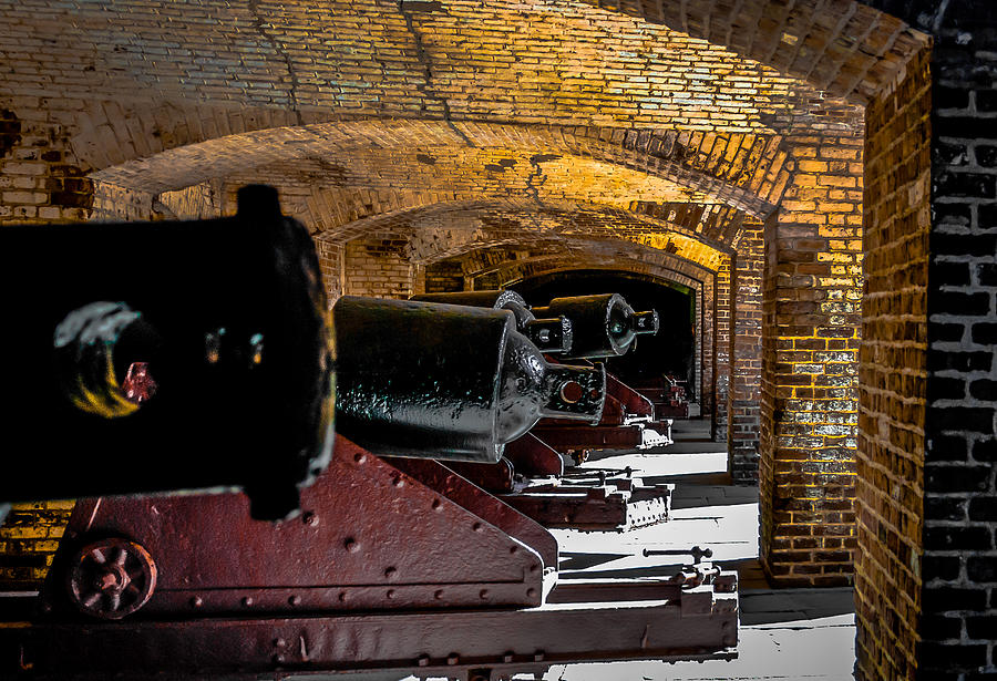 Optical Playground By Mp Ray Photograph - 19th Century Cannon Line by Optical Playground By MP Ray