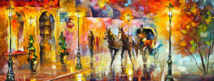 Horse Painting - 19th Century Mood by Leonid Afremov