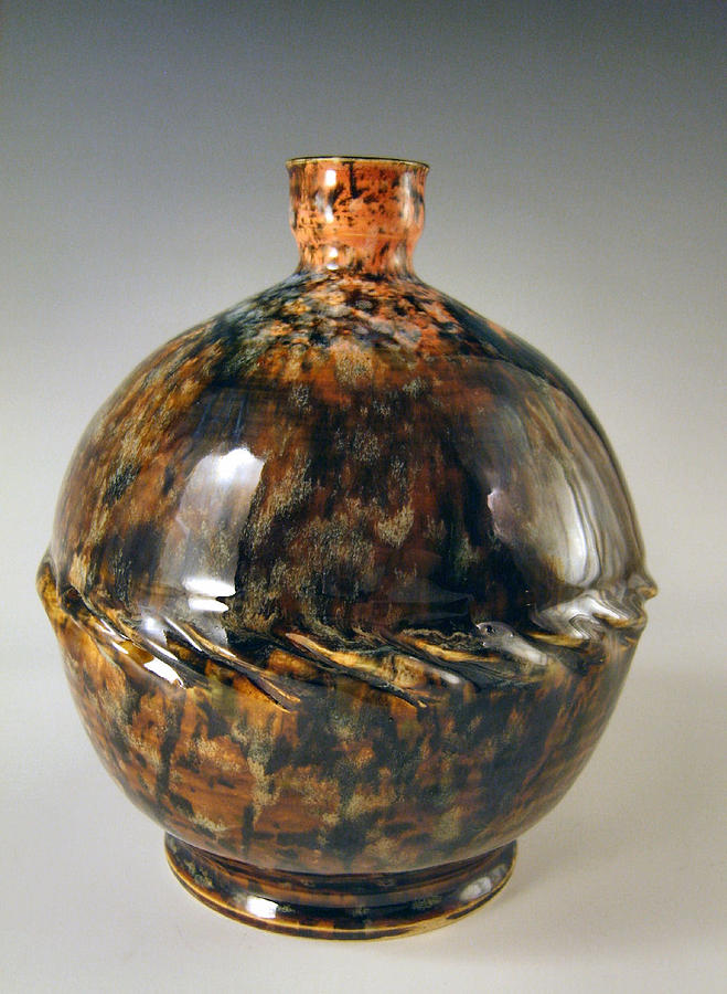 Bottle Ceramic Art - 1crdb3 by John OBrien
