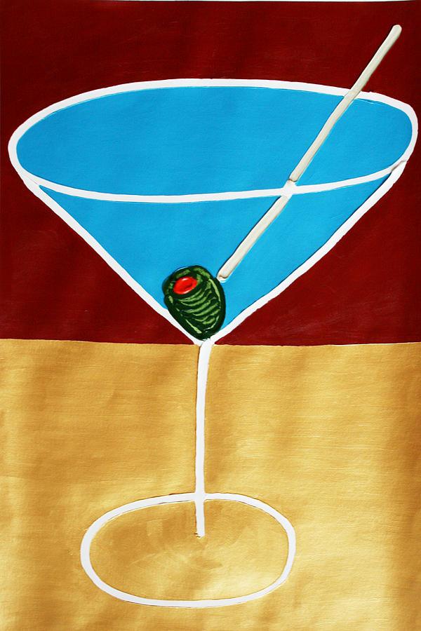 Martini Painting - 1st Martini by Matthew Brzostoski