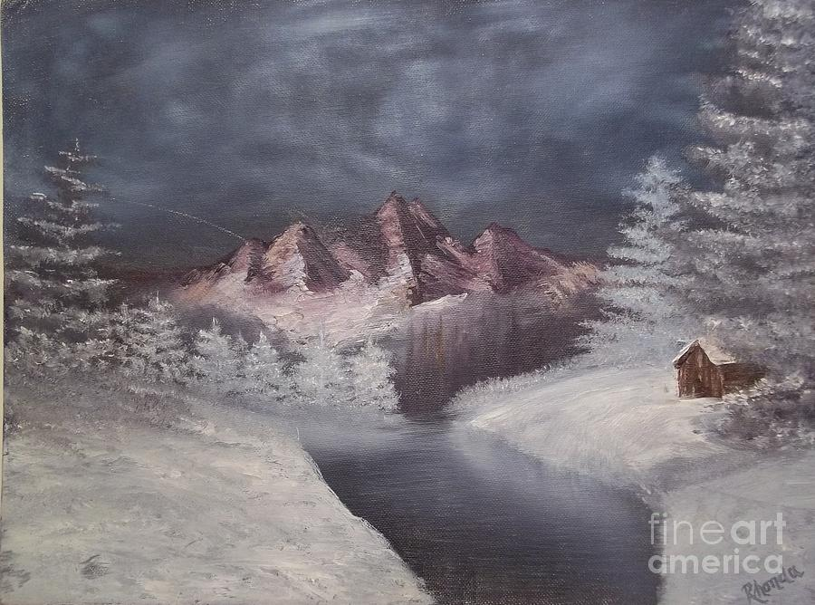 Mountains Painting - 1st Painting 2-27-1991 by Rhonda Lee