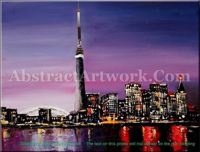 Cityscape Painting Digital Art by AbstractArtwork