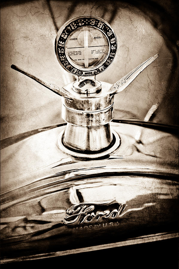 1923 Ford Model T Hood Ornament Photograph - 1923 Ford Model T Hood Ornament by Jill Reger