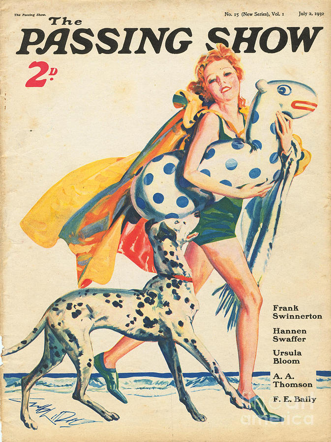 Holidays Drawing - 1930s,uk,the Passing Show,magazine Cover by The Advertising Archives