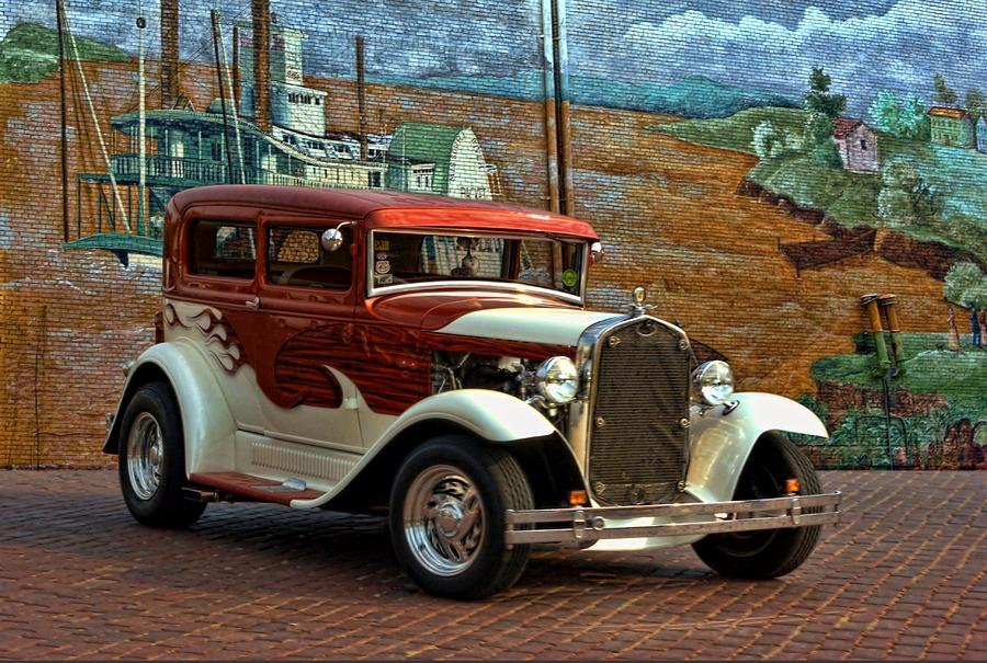 1931 Ford Model A Sedan Hot Rod Photograph by Tim McCullough
