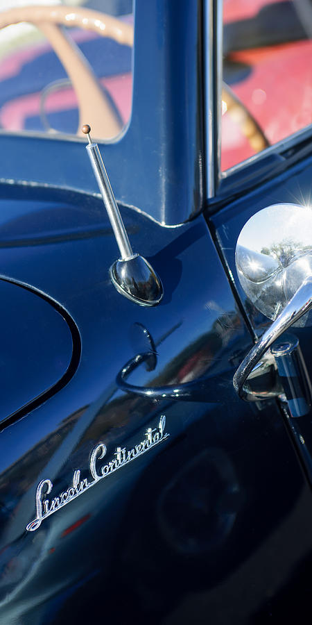 Classic Cars Photograph - 1941 Lincoln Continental Convertible Emblem by Jill Reger
