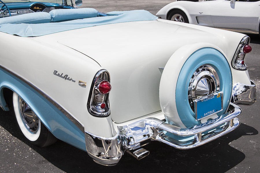 Engine Photograph   1956 Chevrolet Bel Air Convertible By Rich Franco