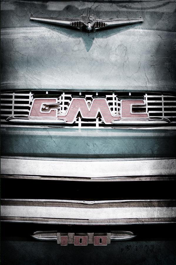 1956 Gmc Emblem Photograph - 1956 Gmc 100 Deluxe Edition Pickup Truck by Jill Reger