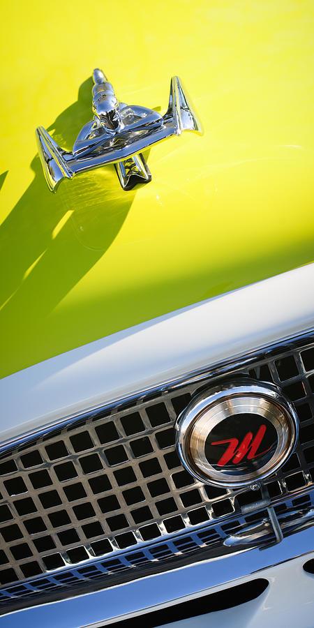 Classic Cars Photograph - 1959 Nash Metropolitan 1500 Convertible Hood Ornament - Grille Emblem by Jill Reger