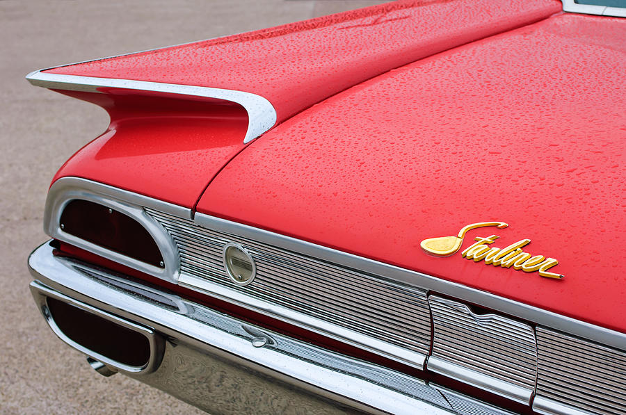 1960 Ford Photograph - 1960 Ford Galaxie Starliner Taillight Emblem by Jill Reger