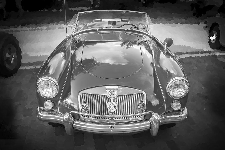 Mga Photograph - 1960 Mga 1600 Convertible Bw by Rich Franco