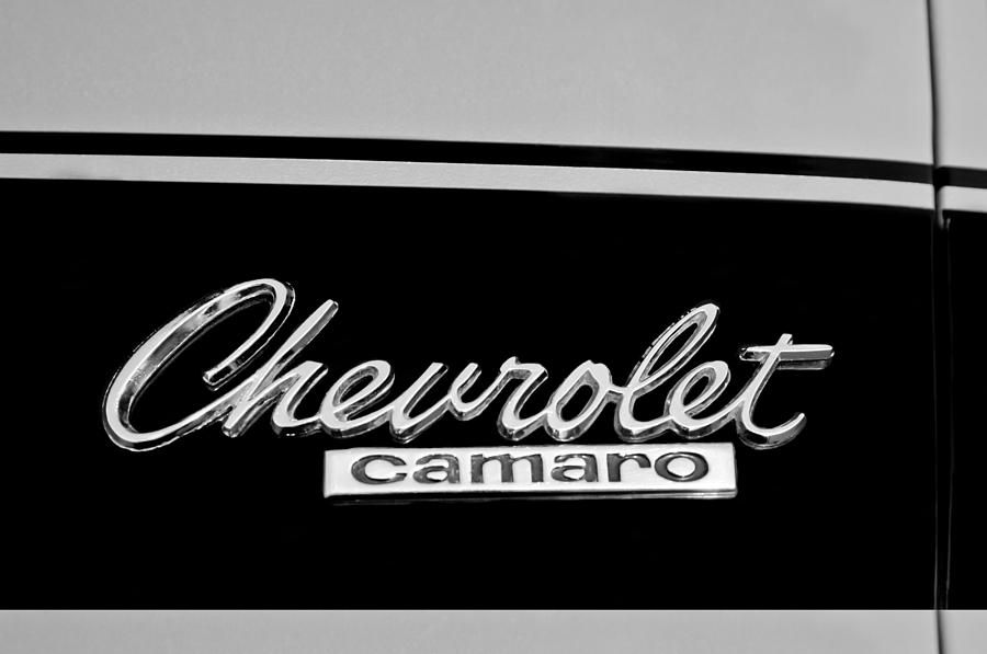 1967 Chevrolet Camaro Emblem Photograph By Jill Reger