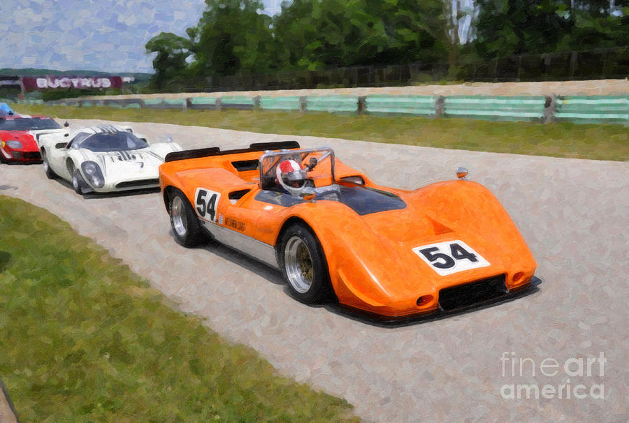 1968 Mclaren M6b Can am Race Car graph by Tad Gage
