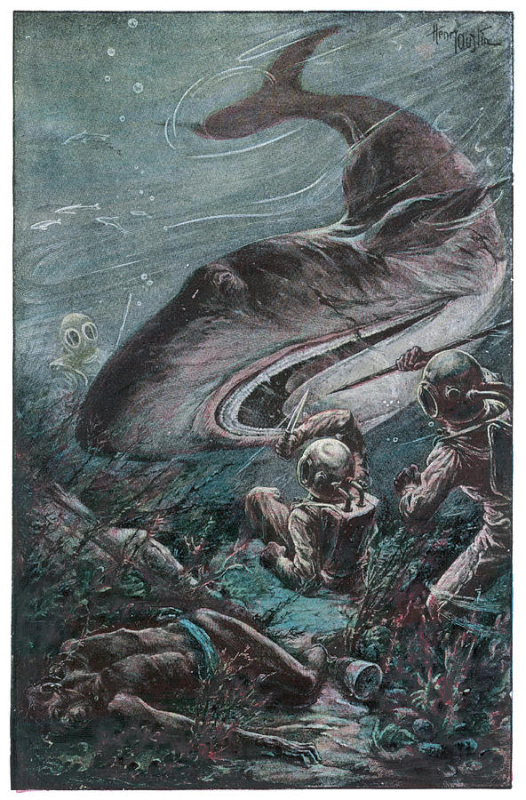 Verne Drawing - 20,000 Lieues Sous Les Mers [20 000 by Mary Evans Picture Library