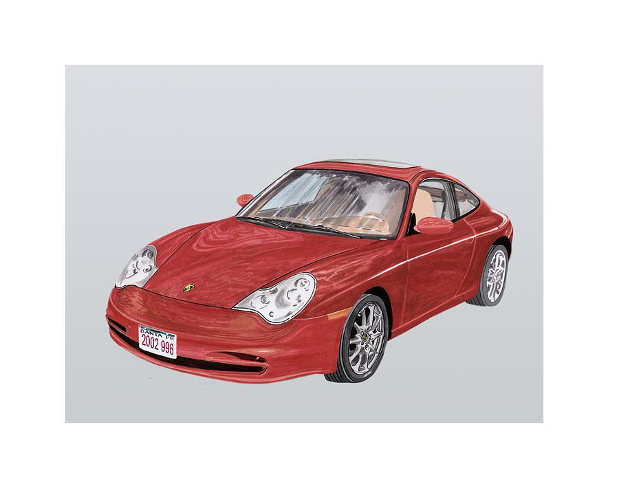 Ack's Watercolor Car Art Of A 2002 Porsche 996 Painting - 2002 Porsche 996  by Jack Pumphrey
