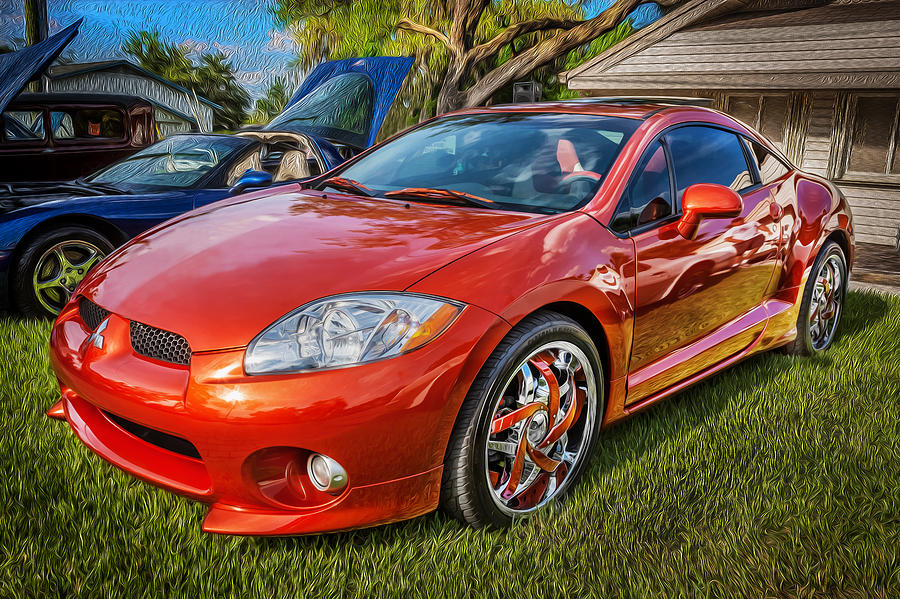 2006 Mitsubishi Eclipse Gt V6 Painted Photograph By Rich Franco