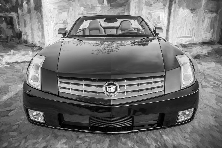 2007 Cadillac Xlr Photograph   2007 Cadillac Xlr Sports Car Painted Bw By  Rich Franco