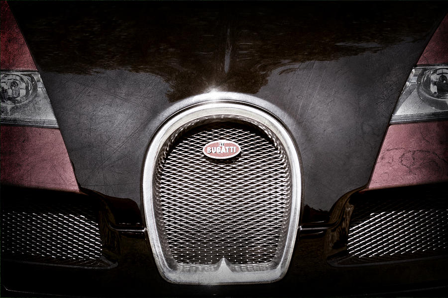 2008 bugatti veyron grille emblem photograph by jill reger. Black Bedroom Furniture Sets. Home Design Ideas