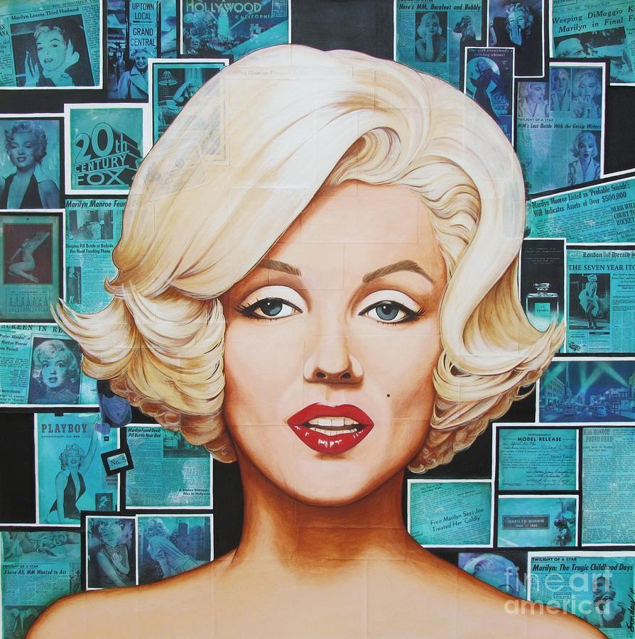 Marilyn Painting - 20th Century Fox by Joseph Sonday