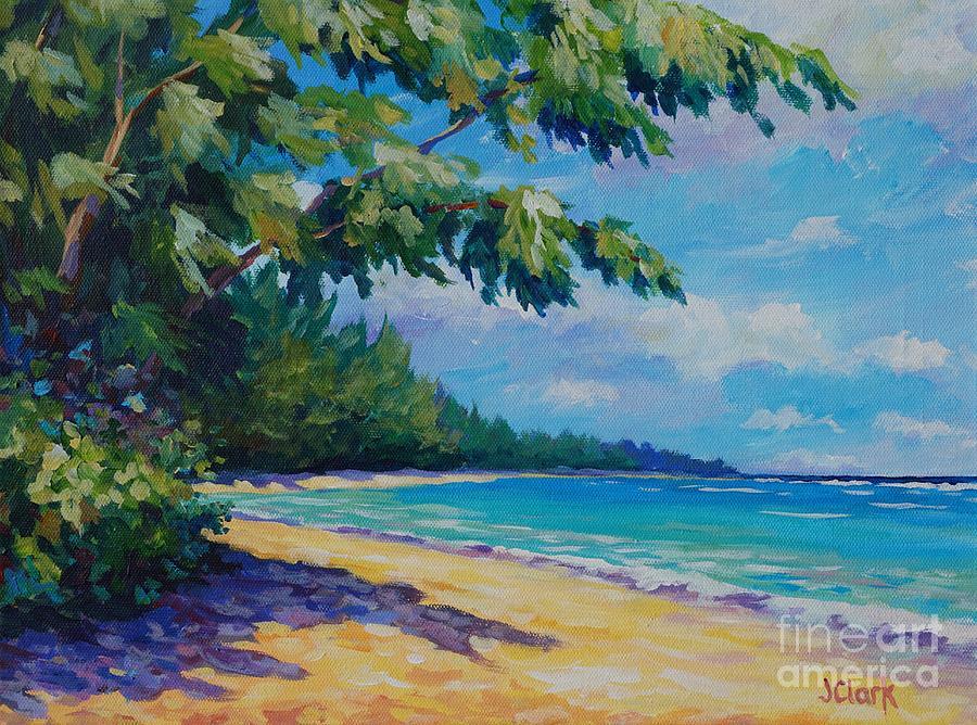Seven Painting - 7 Mile Beach by John Clark