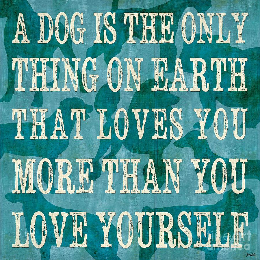 Dog Painting - A Dog 2 by Debbie DeWitt