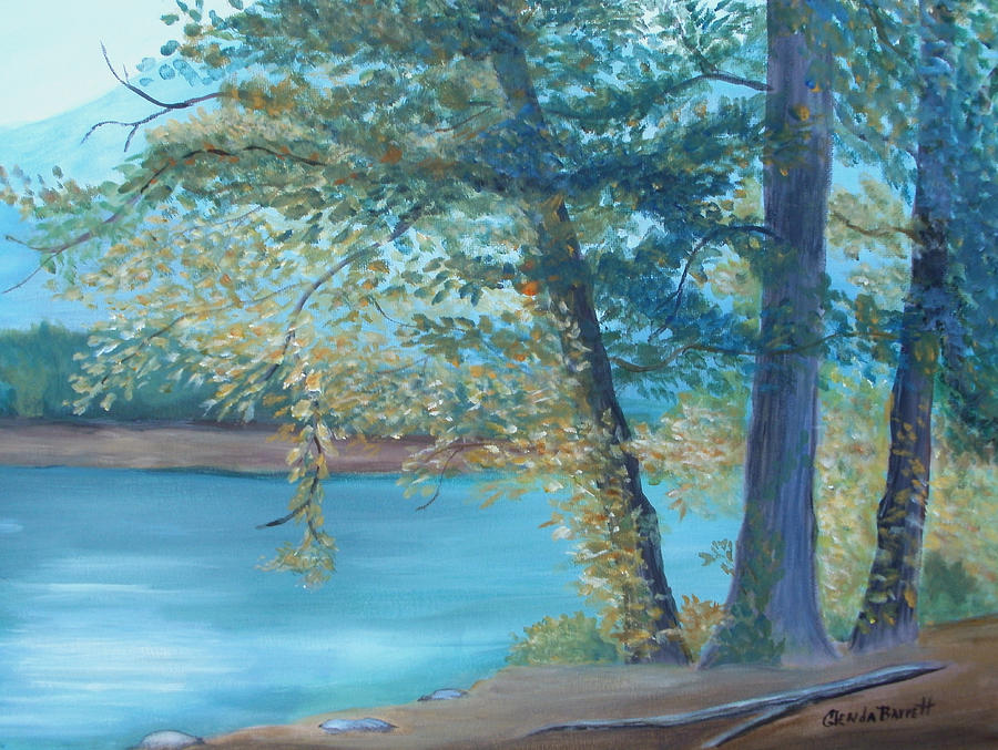 Original Painting - A Good Fishing Day by Glenda Barrett