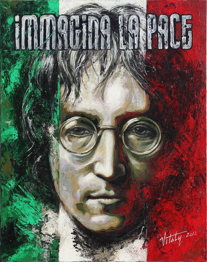 John Lennon Painting - A Man Of Peace And The World by Vitaliy Shcherbak