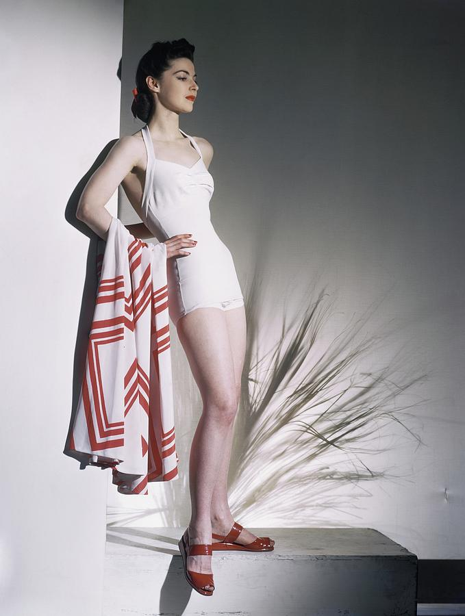 A Model Wearing A Bathing Suit Photograph by Horst P. Horst