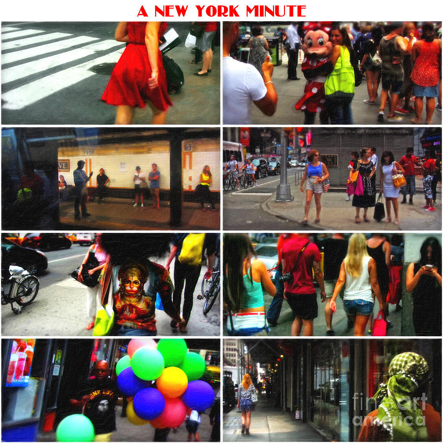 Nyc Photograph - A New York Minute by Nishanth Gopinathan
