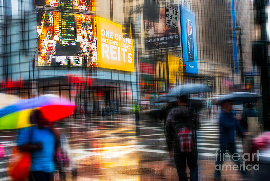 Nyc Photograph - A Rainy Day In New York by Hannes Cmarits
