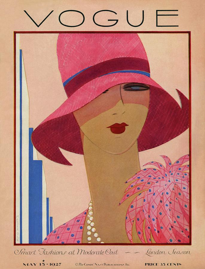A Vintage Vogue Magazine Cover Of A Woman Photograph by Harriet Meserole