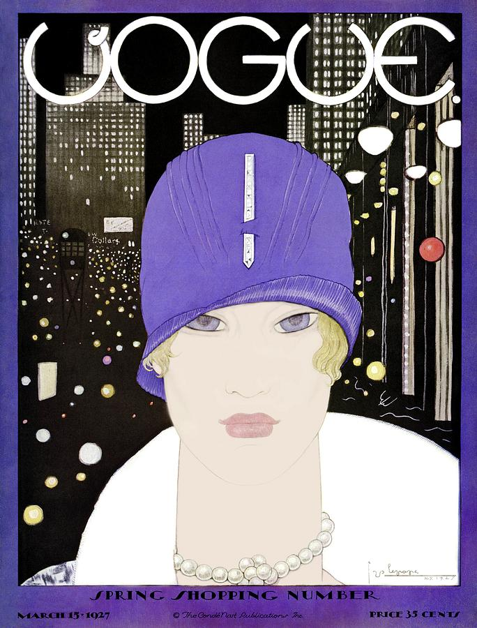 A Vogue Magazine Cover Of A Woman Photograph by Georges Lepape