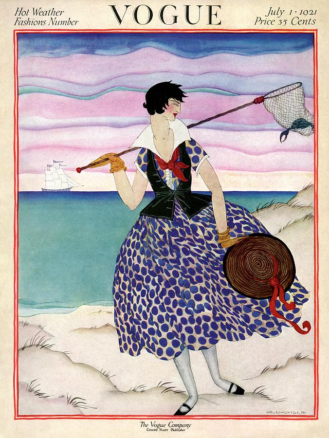 A Vogue Magazine Cover Of A Woman Painting by Helen Dryden