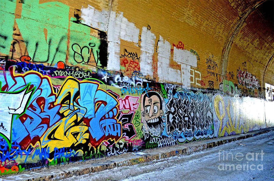 Destroyed Photograph - Abandoned Train Tunnel South Of The Old Train Roundhouse At Bayshore Near San Francisco  by Jim Fitzpatrick