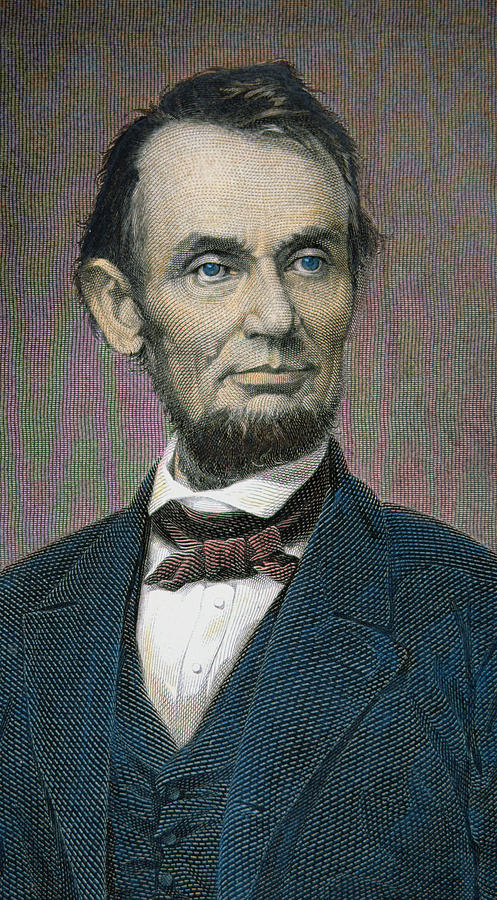 Statesman Painting - Abraham Lincoln by American School
