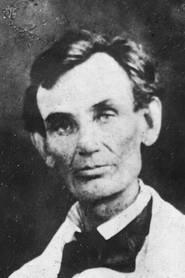 Male Photograph - Abraham Lincoln by Anonymous