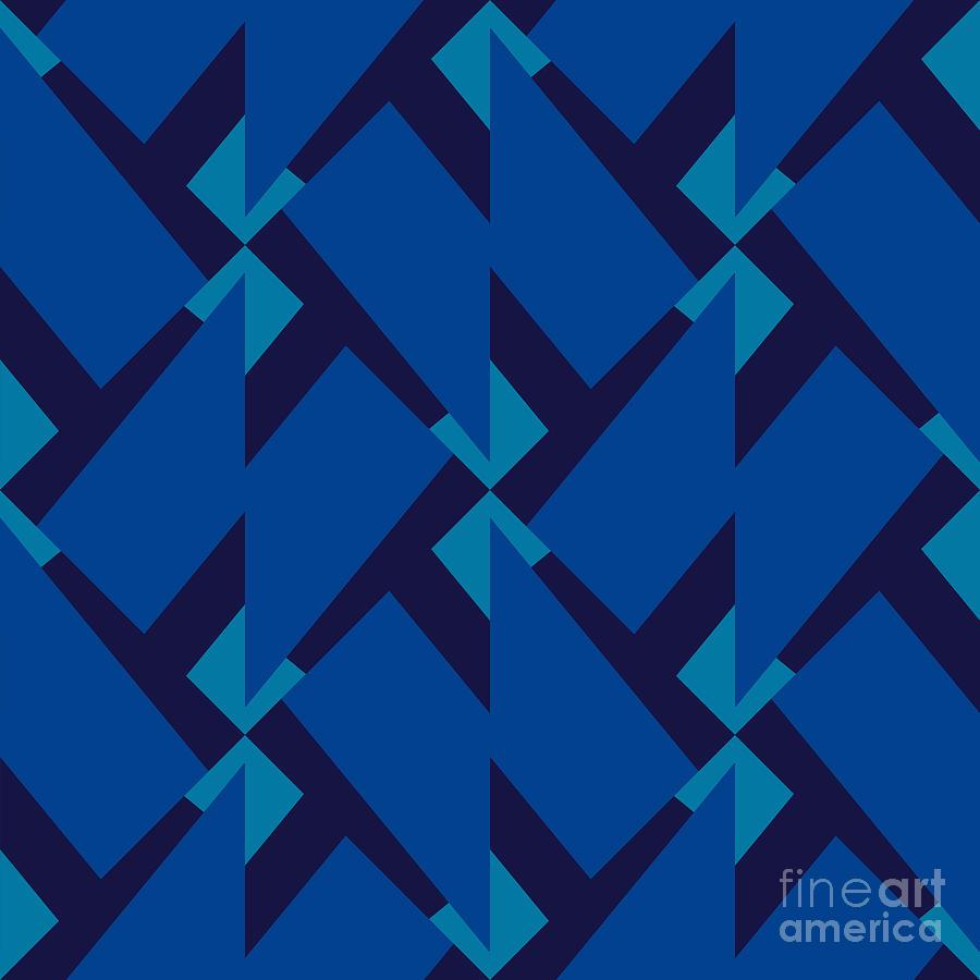 Delicate Digital Art - Abstract Retro Pattern Vector by Artsandra