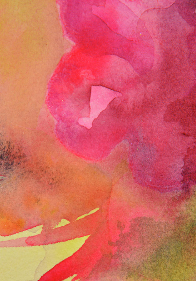 Abstract Watercolours On Rough Handmade Photograph by Kathy Collins