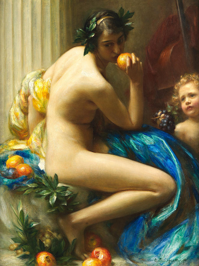 Abundance Painting - Abundance by Arthur Hacker