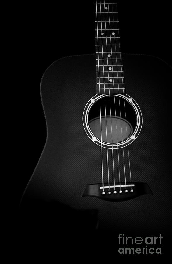 Acoustic Guitar Black And White Artistic Image Photograph By Jani Bryson